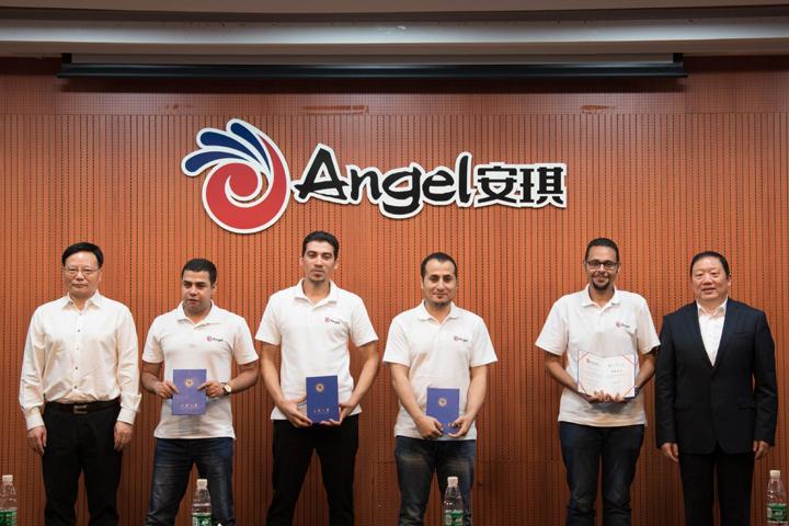 第三批埃及安琪员工中国培训结业典礼在总部举行